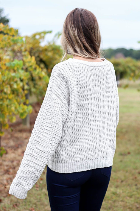 Bentley Cropped Chenille Sweater