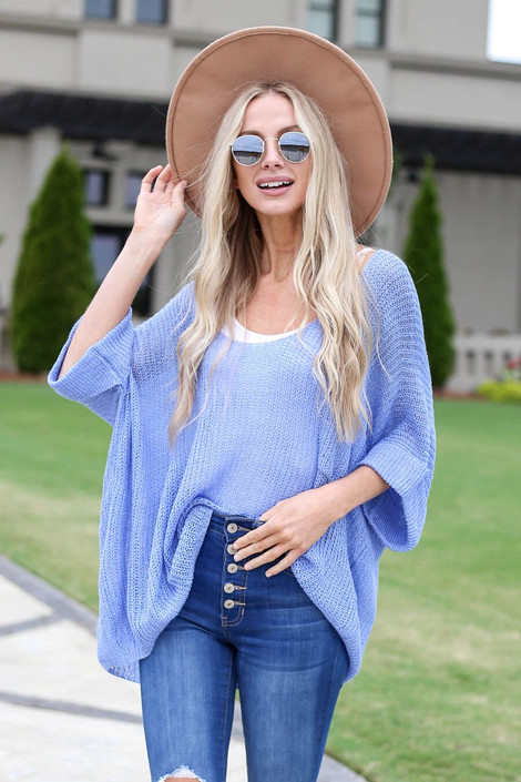 Bridget Open Knit Oversized Top