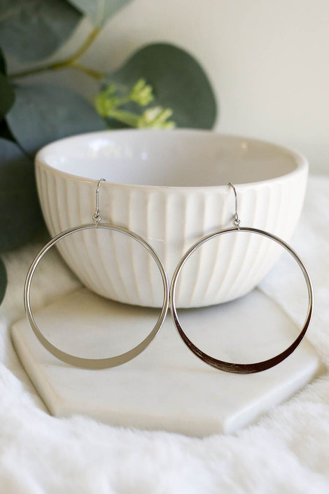 Silver - Classic Hoop Earrings from Dress Up