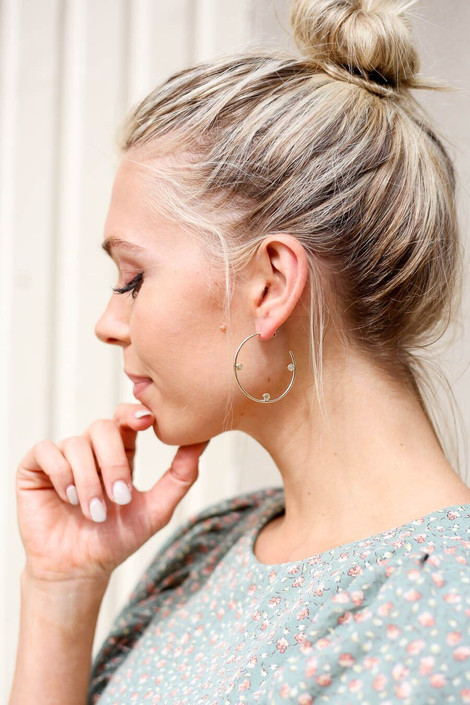 Gold - Circle Hoop Earrings from Dress Up Boutique