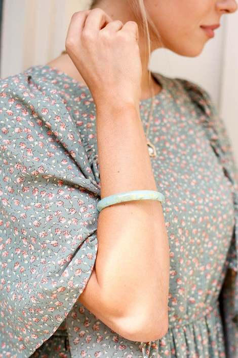Mint - Acrylic Gold Flake Bangles from Dress Up Boutique