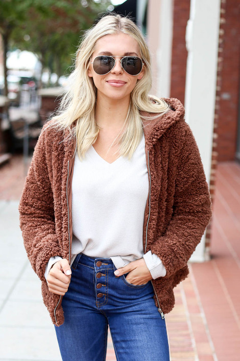 Brown - Sherpa Jacket