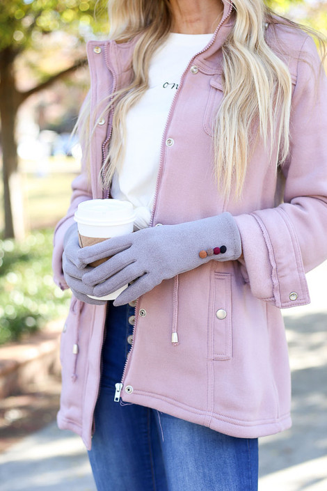 Grey - Soft Knit Tech Gloves from Dress Up Boutique