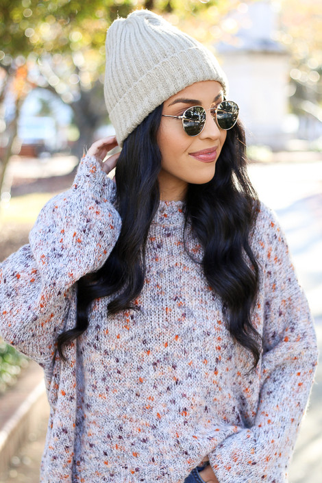 Grey - Ribbed Beanie from Dress up Boutique