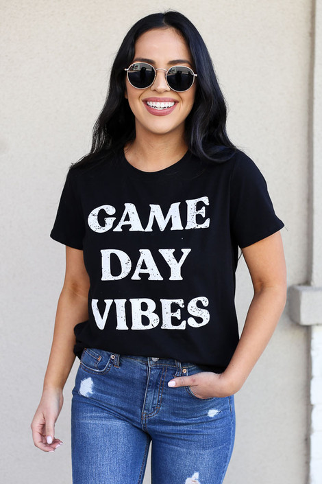 Black - Game Day Vibes Graphic Tee