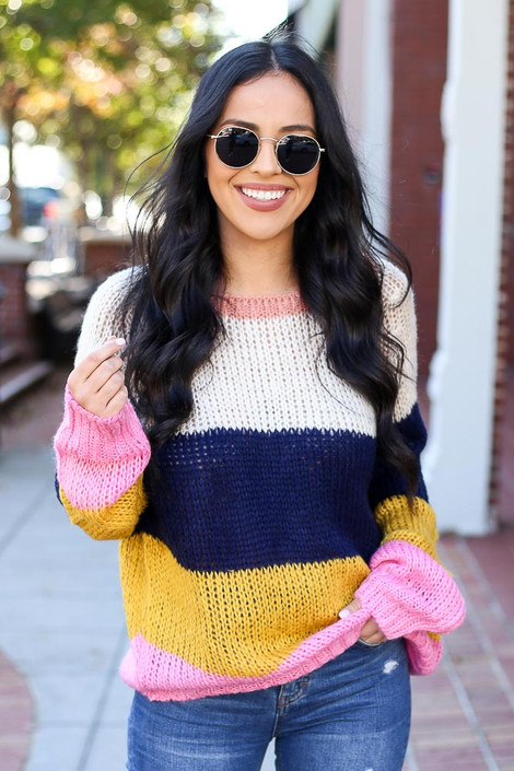 Multi - Wide Stripe Sweater