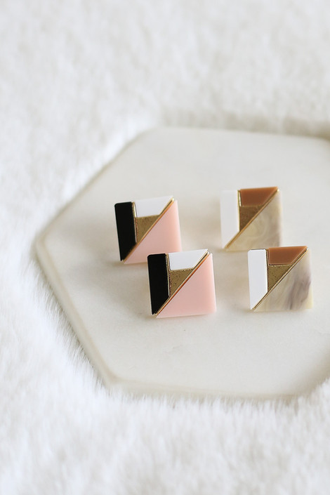 Blush - Statement Stud Earrings from Dress Up