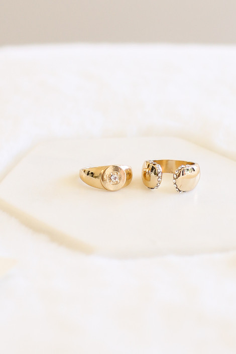 Gold - Chunky Ring Set Flat Lay