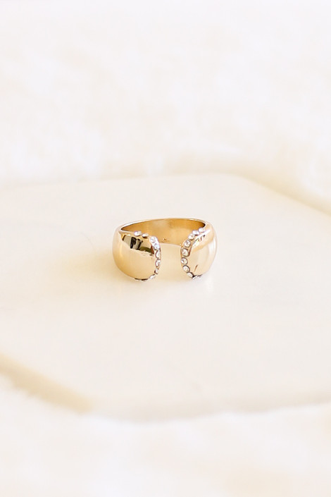 Gold Adjustable Chunky Ring
