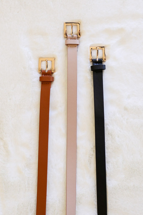 Black - 3 Piece Neutral Basic Belt Set