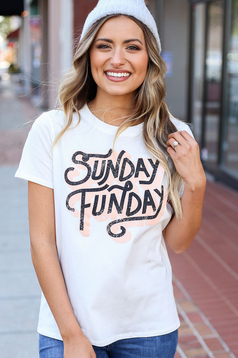 White - Sunday Funday Graphic Tee