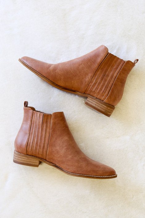 Brown - Vegan Leather Chelsea Boots