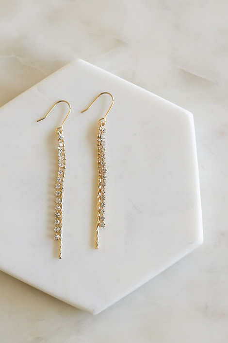 Gold - Mixed Chain Drop Earrings