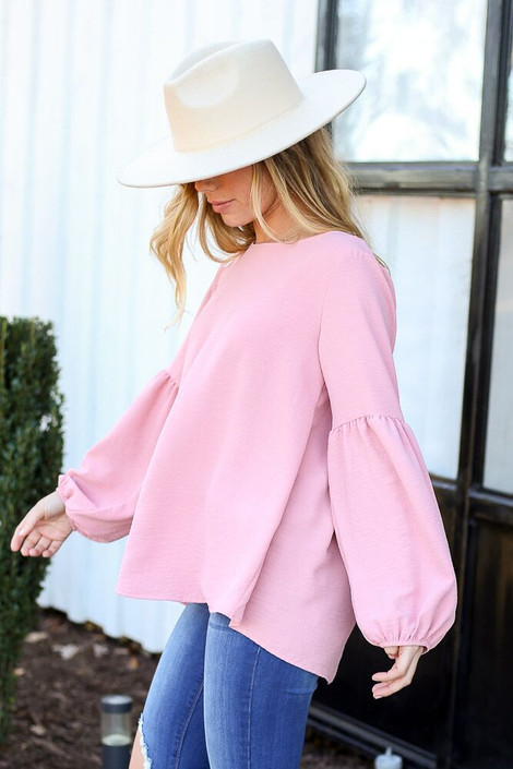 Blush - Tiered Sleeve Blouse from Dress Up