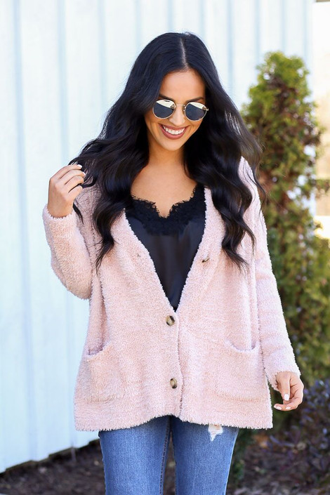 Blush - Eyelash Knit Dual Wear Sweater from Dress Up