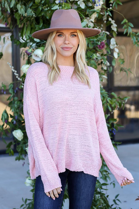 Blush - Textured Knit Sweater