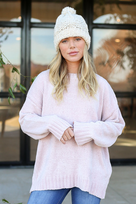 Blush - Luxe Chenille Sweater