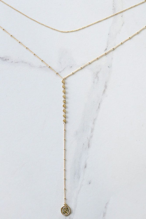 Gold - Layered Coin Necklace