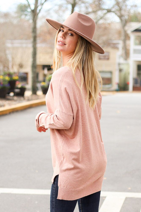 Blush - Oversized Lightweight Knit Sweater