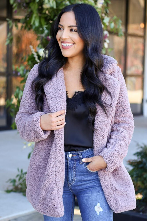 Mauve - Sherpa Teddy Jacket from Dress Up