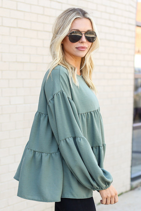 Olive - Tiered Babydoll Blouse from Dress Up