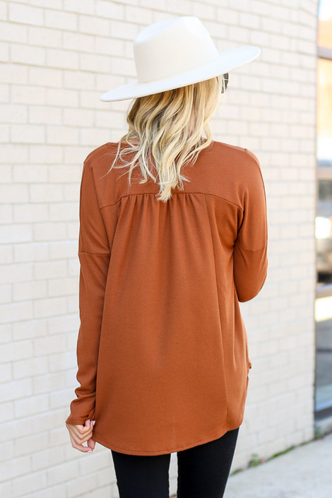 Model wearing the Thermal Knit Top from Dress Up - Back View