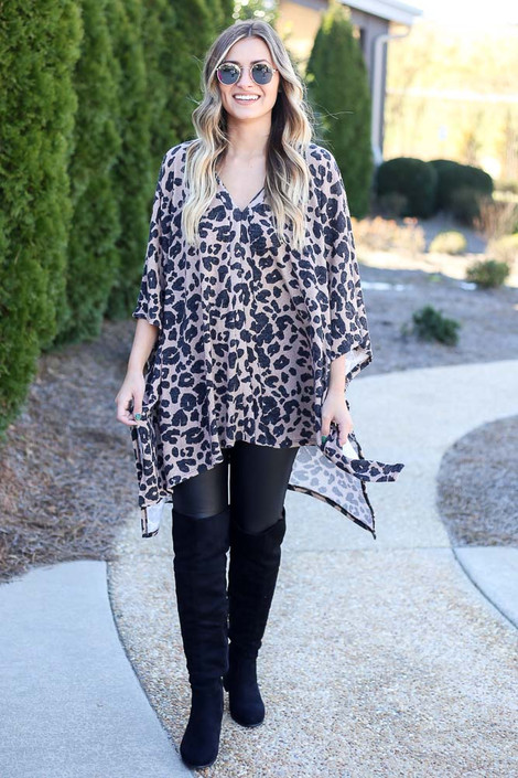 Leopard - Leopard Oversized Poncho from Dress Up