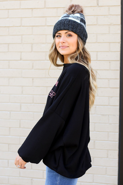 Model wearing the Be Good Pullover from Dress Up Side View