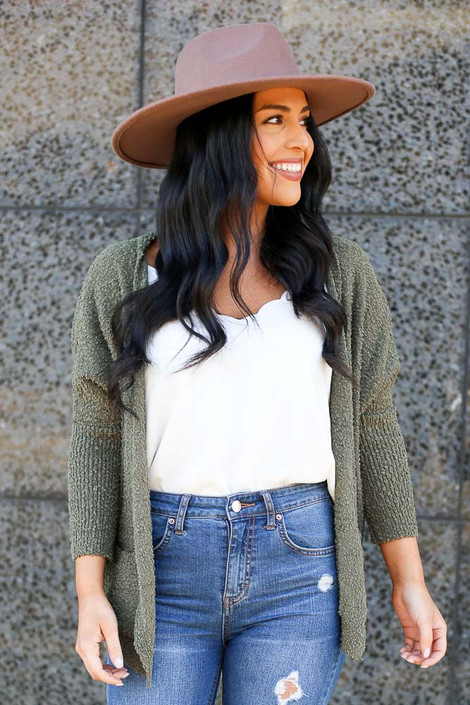 Olive - Fuzzy Knit Cardigan from Dress Up