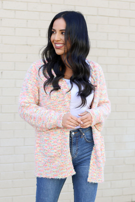 Multi - Eyelash Confetti Knit Cardigan from Dress Up Front View
