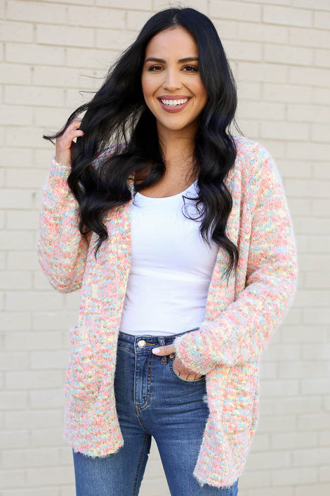 Multi - Eyelash Confetti Knit Cardigan from Dress Up