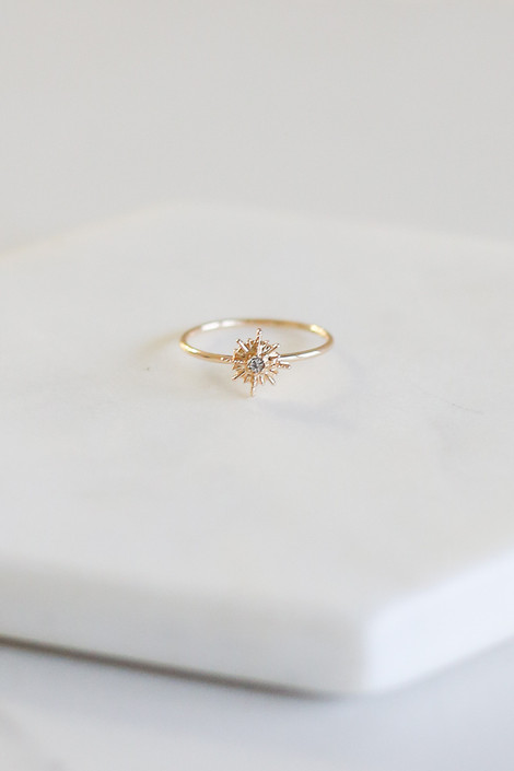 Flat lay photo of one of the rings in the Savannah Rhinestone Ring Set