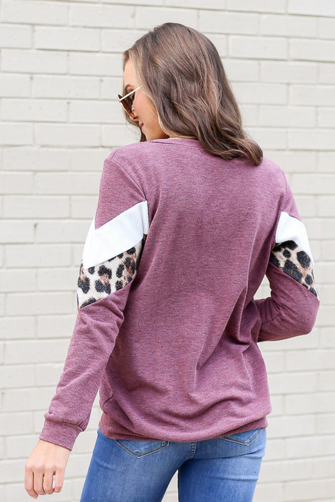 Chevron French Terry Pullover Back View