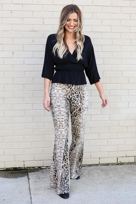 Snake - Ivy Animal Print Flare Pants from Dress Up