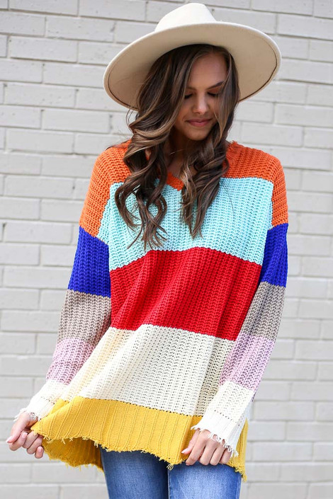 Multi - Color Block Oversized Sweater from Dress Up