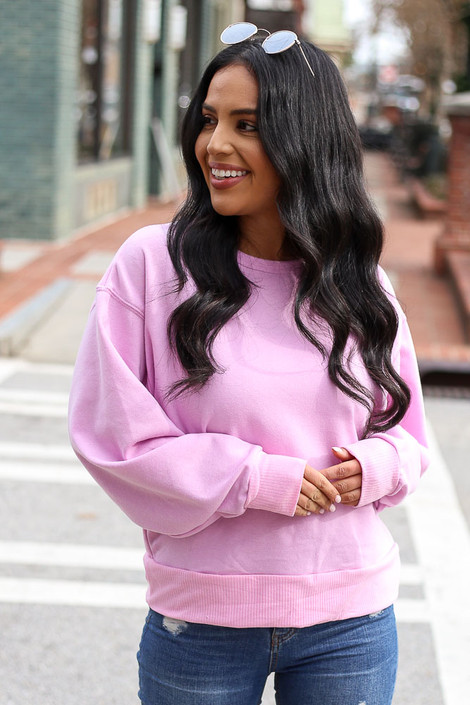 Lilac - French Terry Oversized Pullover