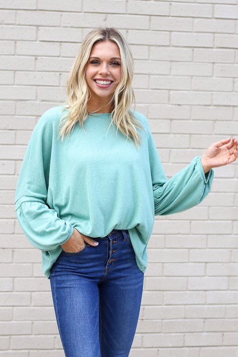 Sage - Oversized Brushed Knit Sweater from Dress Up