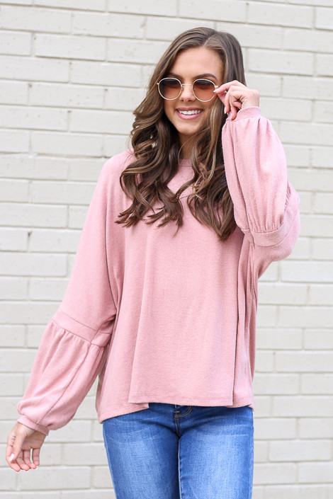 Blush - Oversized Brushed Knit Sweater from Dress Up