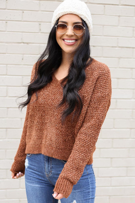 Bella Cropped Chenille Sweater