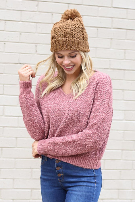 Blush - Cropped Chenille Sweater from Dress Up