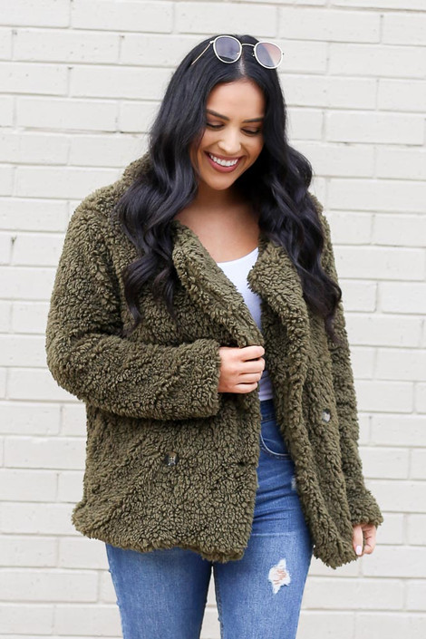 Olive - Sherpa Jacket from Dress Up