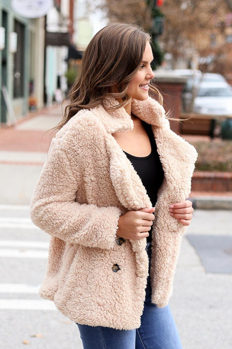 Ivory - Sherpa Jacket from Dress Up