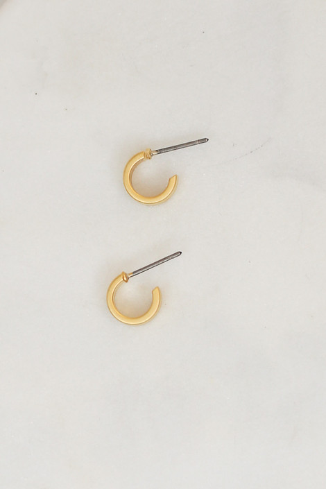 Gold - Mini Hoop Earrings from Dress Up