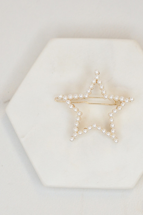 Gold - Pearl Star Hail Clip from ShopDressUp