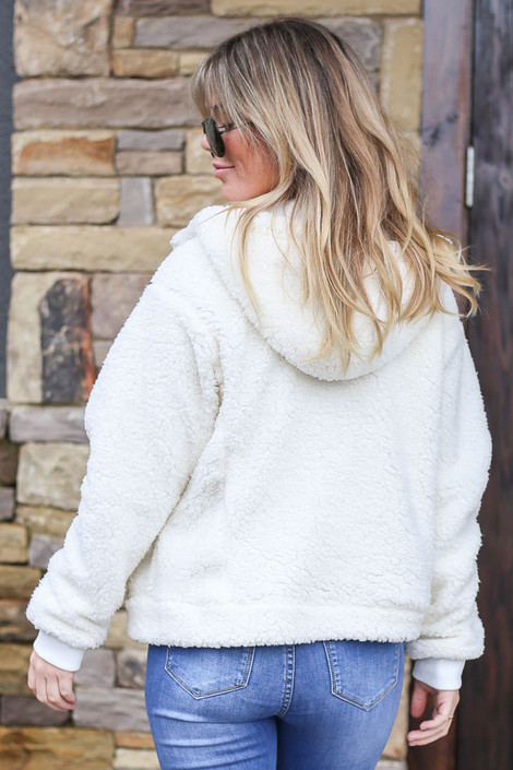 Hooded Sherpa Jacket Back View