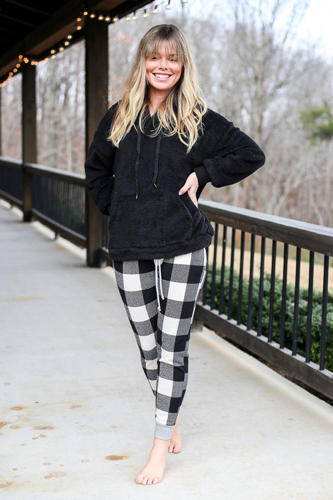 Black - Buffalo Plaid Joggers