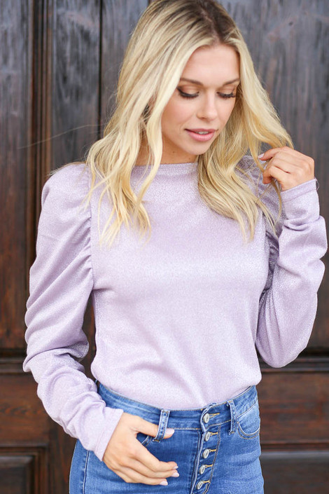 Lilac - Glitter Knit Top from Dress Up