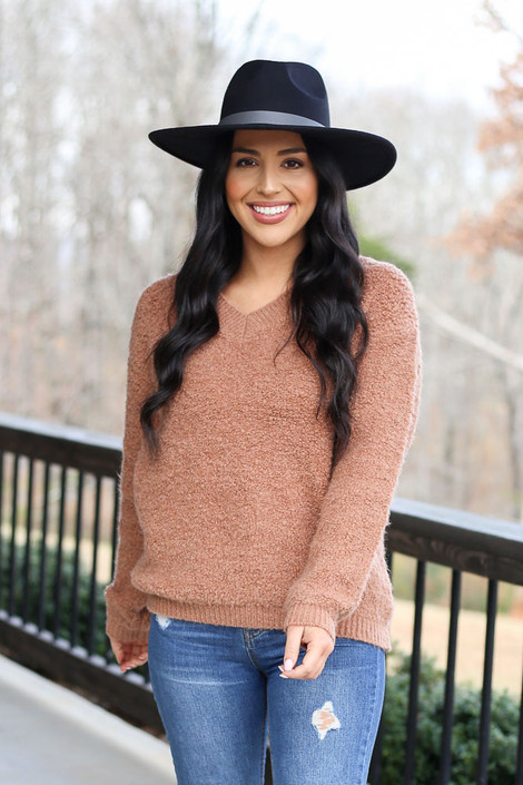 Camel - Fuzzy Sherpa Sweater from Dress Up