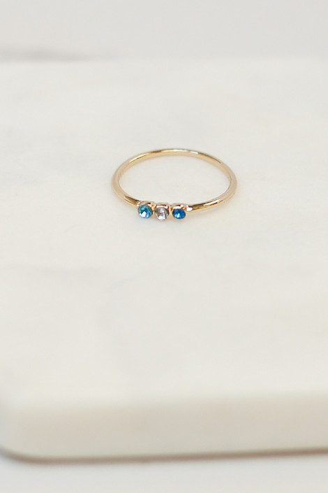 Individual ring from the Gold Stone Dainty Ring Set