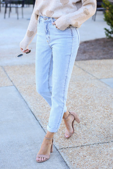 Light Wash - High Rise Skinny Jeans from Dress Up